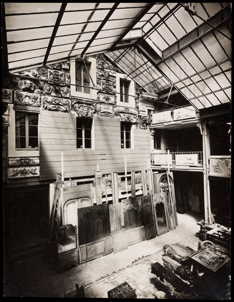 Maison Carlhian, Paris, warehouse with stock of plaster casts and boiserie, 1919