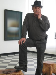 Larry Bell in his studio, January 22, 2012