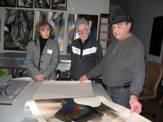 Larry Bell discusses his work with course participants