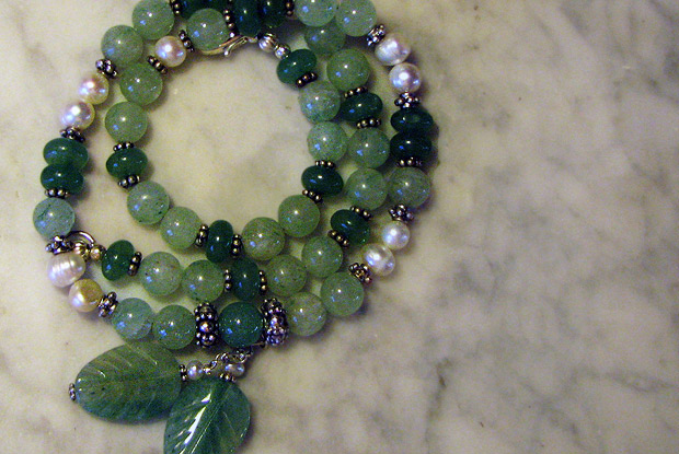 Necklace with aventurine