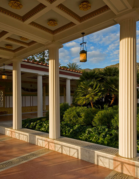 The Getty Villa Outer Peristyle at sunset