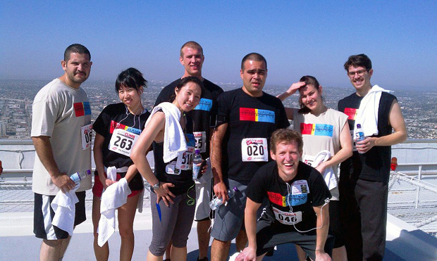 2011 Getty Community Service team at the American Lung Assocation's Fight for Air Climb