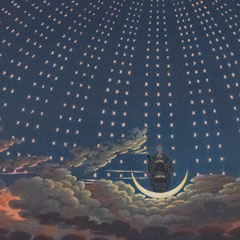 Detail from Opera [Set] Decorations: The Magic Flute, Act I, Scene VI / Carl Friedrich Thiele after Karl Friedrich Schinkel