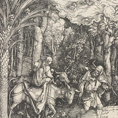 Detail from The Life of the Virgin (Epitome in divae parthenices Mariae historiam...) / Albrecht Duerer