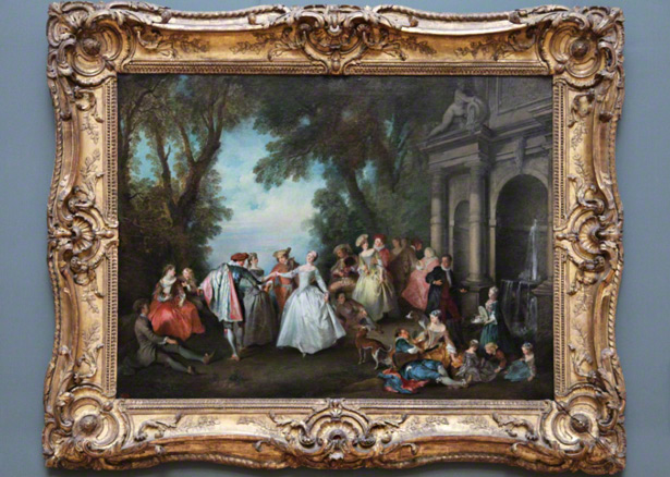 Dance Before a Fountain / Nicolas Lancret