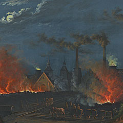 Detail from Coal Facility at Königshütte / Carl Julius Rieden
