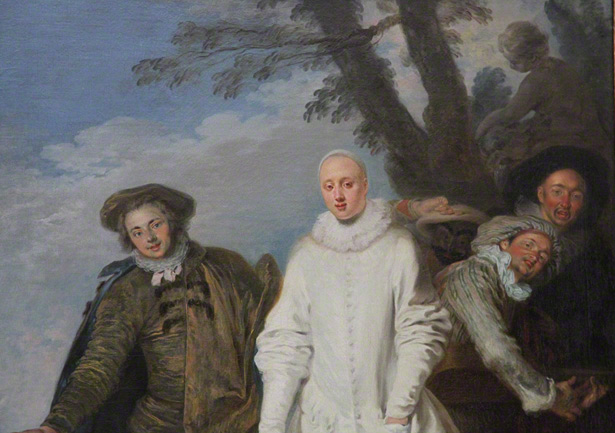 Detail of the Italian Comedians / Watteau