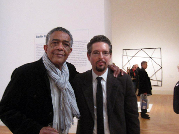 Artist Fred Eversley with Andrew at the Martin-Gropius-Bau