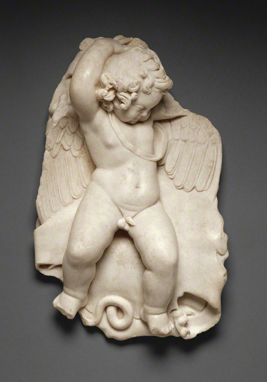 Statuette of a Sleeping Eros / Roman