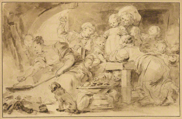 Making Fritters (Les Beignets) / Jean-Honore Fragonard