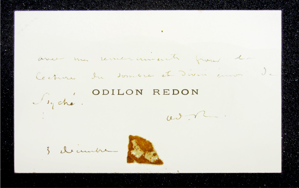 Odilon Redon, annotated carte-de-visite