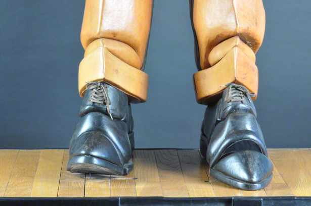 Detail of the boots in Stephan van Huene's Tap Dancer