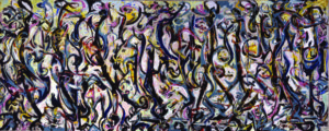 "Jackson Pollock (American, 1912-1956) Mural, 1943 Oil on canvas, 8' ¼"" x 19' 10"" Gift of Peggy Guggenheim, 1959.6 University of Iowa Museum of Art Reproduced with permission from The University of Iowa"