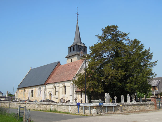 Church of Saints Cyr and Juliette at Saint-Cyr-de-Salerne, near Berthouville, France