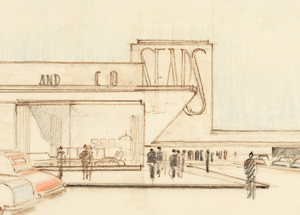 Detail from elevation for Sears, Roebuck and Co. / Karl Schneider