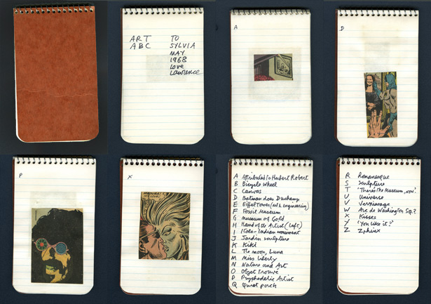 Notebook pages from Art ABC / Lawrence Alloway