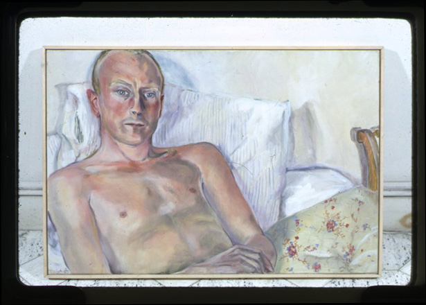 Lawrence in Bed (Ditchling) / Sylvia Sleigh