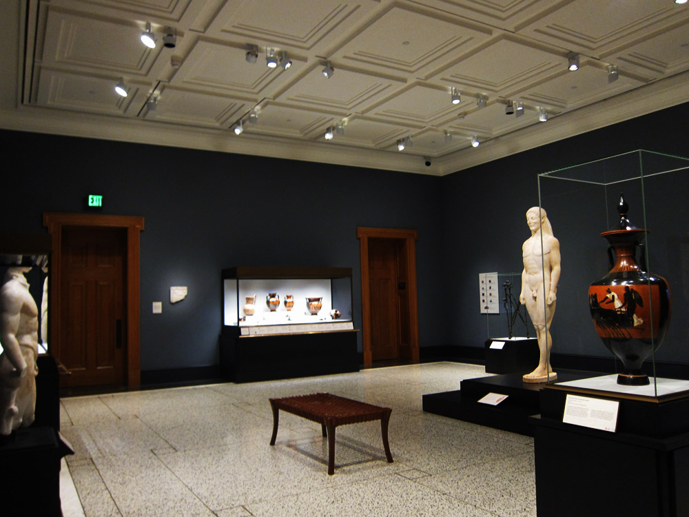 Athletes and Competition (Gallery 211) at the Getty Villa