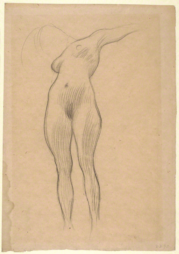 Floating Woman with Extended Arm (Study for Medicine) / Gustav Klimt