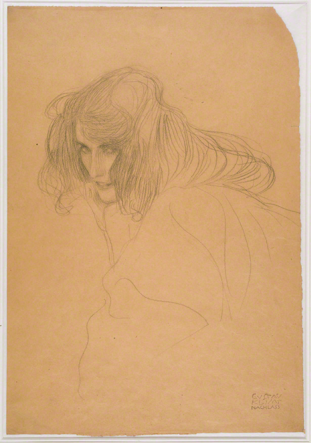Study for the Figure of Lasciviousness (Beethoven Frieze) / Gustav Klimt