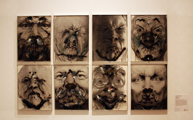 Messerschmidt Serie / Arnulf Rainer in the galleries of Messerschmidt and Modernity at the Getty Center