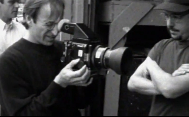 Herb Ritts and Mark McKenna - still from the new documentary Herb Ritts: L.A. Style