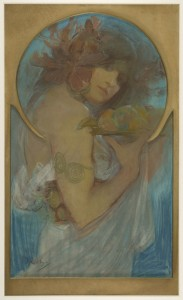 Study for Poster: Fruit / Mucha