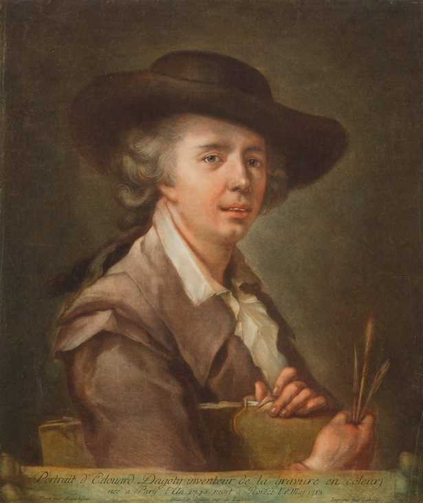 Portrait of Edouard Dagoty, Inventor of Color Printing / Carlo Lasinio
