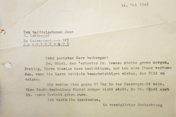 Letter from Gustav Cramer to Ernst Lemberger - May 14, 1942