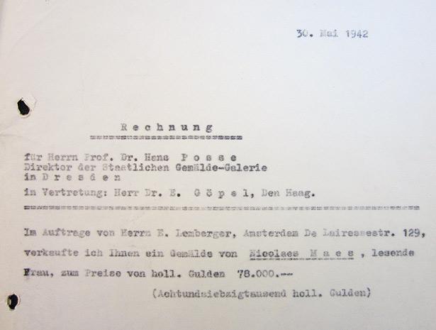 Invoice from Gustav Cramer to Erhard Göpel - May 30, 1942