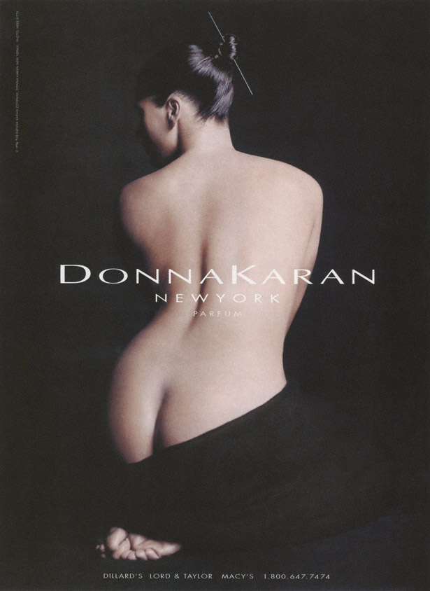 Carré Otis in Donna Karan Fragrance Campaign / Herb Ritts