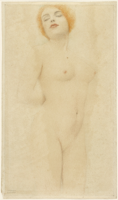 Study of a Nude / Khnopff (800)