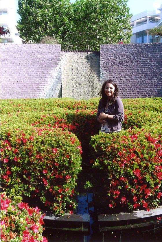 Jennnifer Reid in Robert Irwin's Central Garden at the Getty Center, 2006