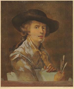 Portrait of Édouard Dagoty, Inventor of Color Printing / Carlo Lasinio