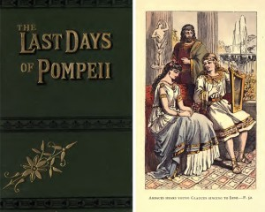 Cover and illustration from Bulwer-Lytton&#039;s The Last Days of Pompeii