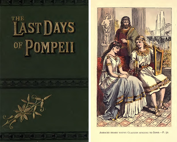 Cover and illustration from Bulwer-Lytton's The Last Days of Pompeii