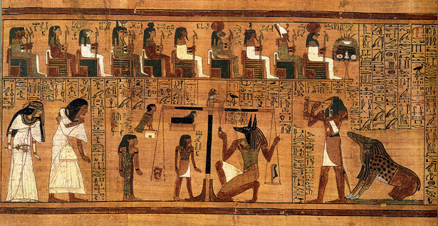 Papyrus from the Book of the Dead of Ani showing the Weighing of the Heart