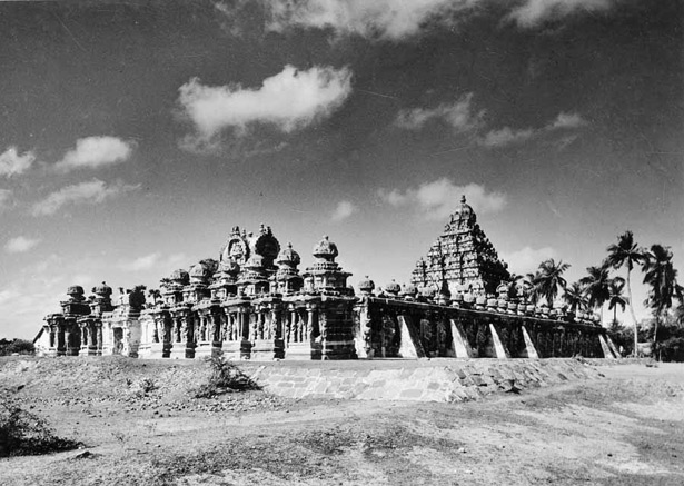 Archival photo of Kailasanatha temple in Kanchipuram / Kanchi, Chingleput, Tamilnadu, India