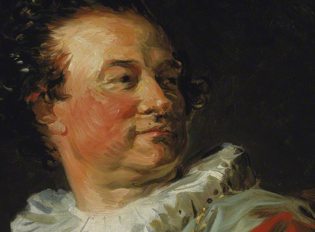 Detail of face of Franois-Henri, Duke of Harcourt / Jean-Honor Fragonard