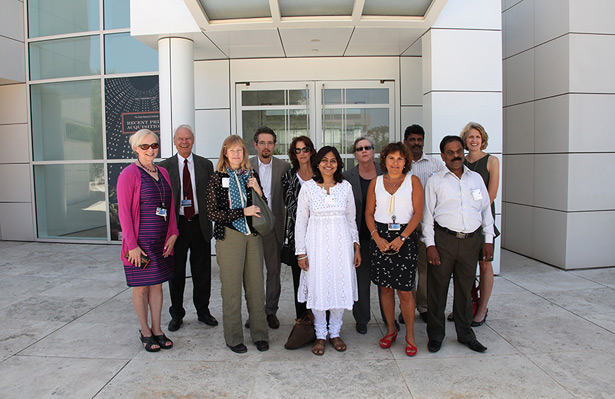 Indian delegation from CA&A with colleagues from the Getty Research Institute and the Getty Foundation