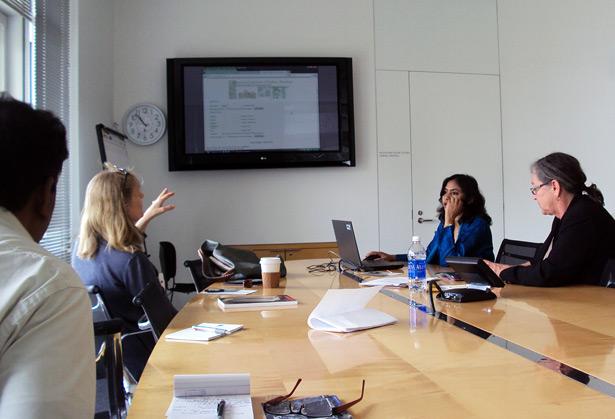 Janice Leoshko, Vandana Sinha, and Murtha Baca discuss metadata at the Getty Research Institute