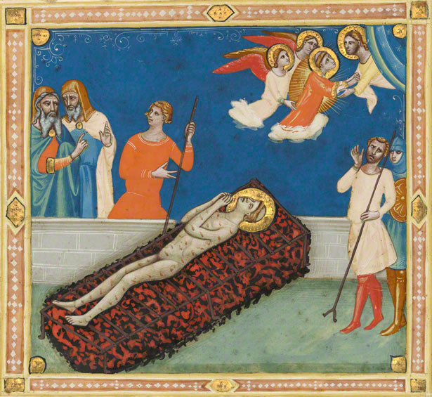 The Martyrdom of Saint Lawrence from the Laudario of Sant'Agnese / Pacino di Bonaguida