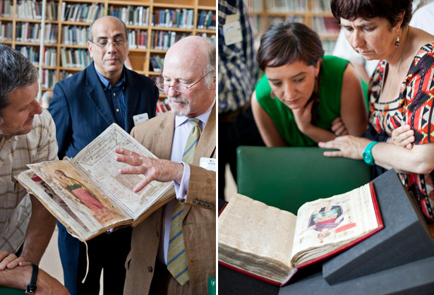 International scholars examine the Murúa manuscript at the Getty Museum