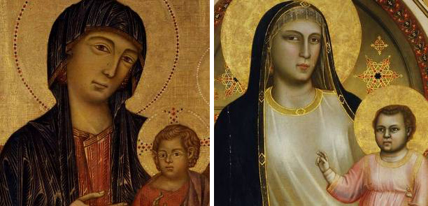 The Virgin and Child by Cimabue and Giotto