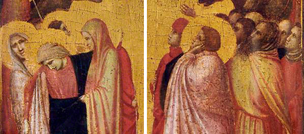 Details from a panel painting of the Crucifixion / Giotto di Bondone