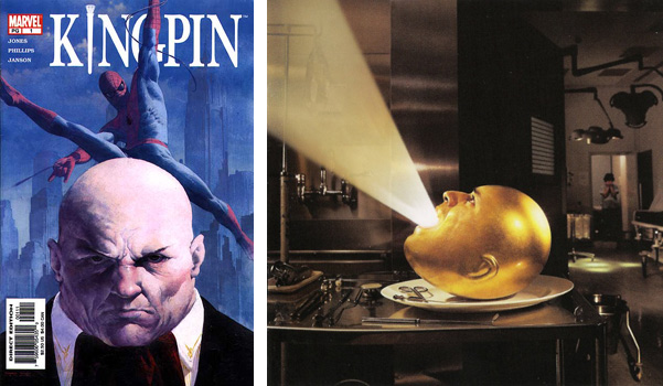 Bald men in pop culture: Kingpin and De-Loused in the Comatorium