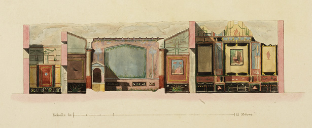 Transverse section of the House of the Tragic Poet in Pompeii / Jules Frédéric Bouchet and Raoul Rochette