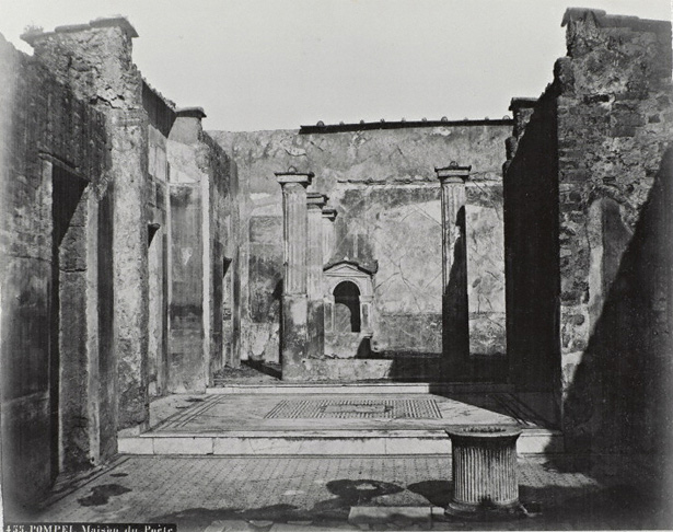 Late-19th-century photograph of the House of the Tragic Poet in Pompeii