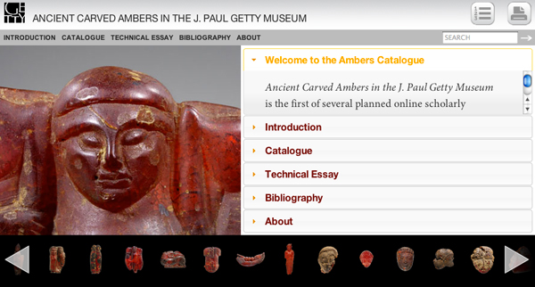 Ancient Carved Ambers Online Scholarly Catalogue