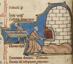 Baking Bread / Unknown illuminator, Belgium